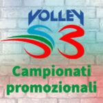 Indizione Campionati promozionali Volley S3 2021-22